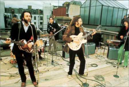 The Beatles famous rooftop performance