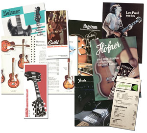 Vintage guitar catalogues