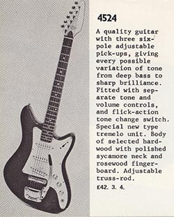 Dallas Arbiter 4524 (Vox Consort) from the 1969 catalogue