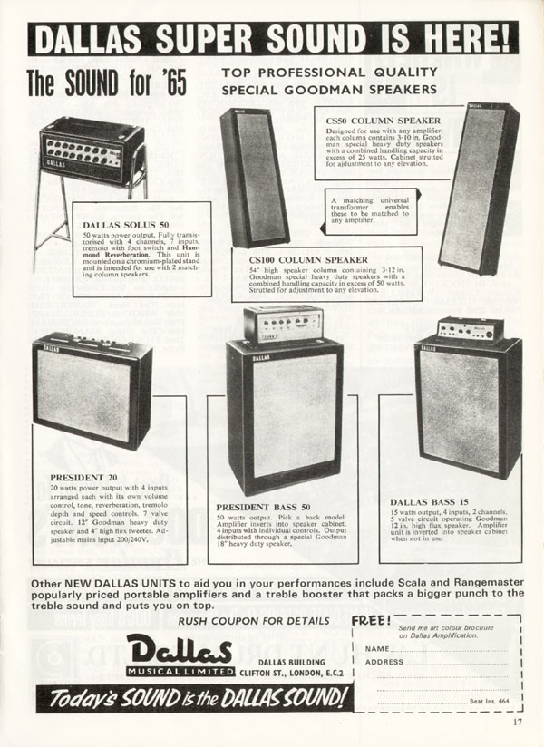 Dallas advertisement (1965) Dallas Super Sound Is Here