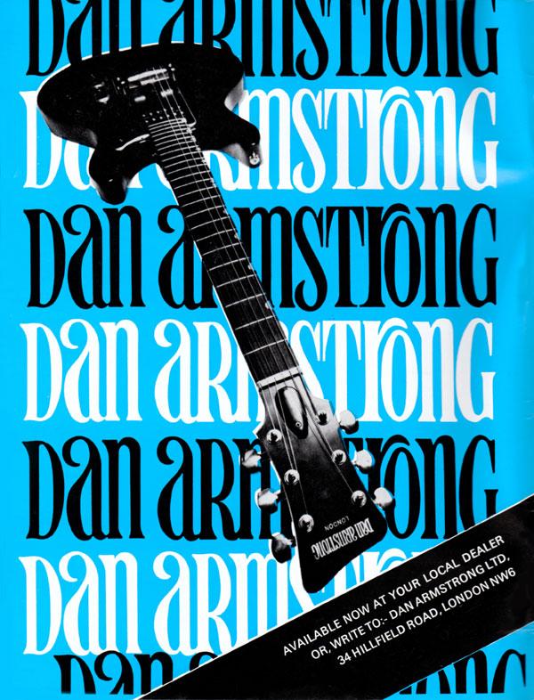 Dan Armstrong advertisement (1973) Dan Armstrong