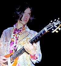 Dave Davies of the Kinks with his 1950s Gibson Flying V