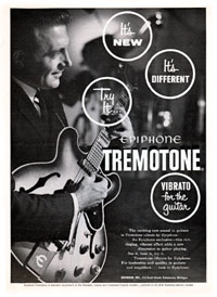 Epiphone Sheraton - Epiphone Tremotone. Vibrato for the guitar.