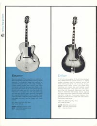 1961 Epiphone full line catalogue page 16