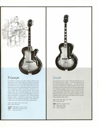 1961 Epiphone full line catalogue page 17
