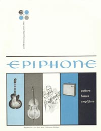 1961 Epiphone full line catalogue cover