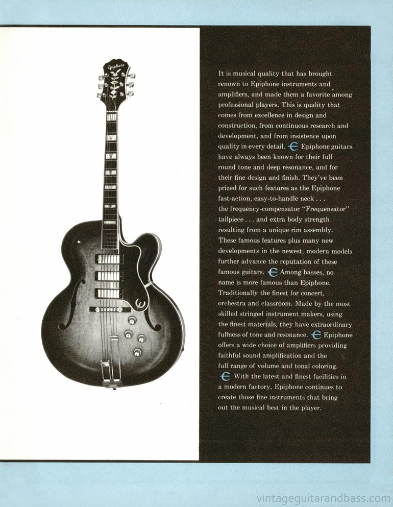 1961 Epiphone full line catalogue page 3