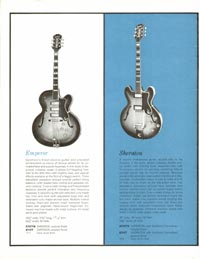 1961 Epiphone full line catalogue page 4
