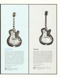 1961 Epiphone full line catalogue page 5