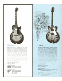 1961 Epiphone full line catalogue page 6