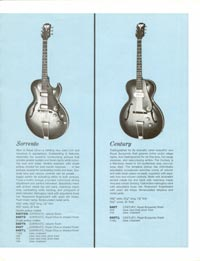 1961 Epiphone full line catalogue page 7