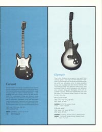 1961 Epiphone full line catalogue page 9