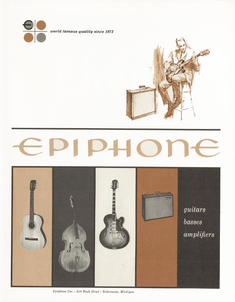 1962 Epiphone full line catalogue front cover