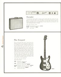 1962 Epiphone full line catalogue page 12