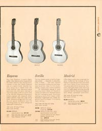 1962 Epiphone full line catalogue page 13