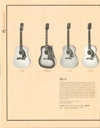1962 Epiphone full line catalogue page 14