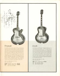 1962 Epiphone full line catalogue page 17