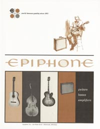 1962 Epiphone full line catalogue cover
