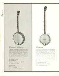 1962 Epiphone full line catalogue page 20