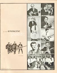 1962 Epiphone full line catalogue page 23