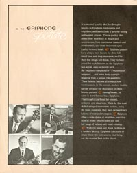 1962 Epiphone full line catalogue page 2