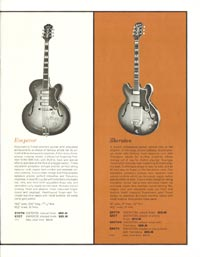 1962 Epiphone full line catalogue page 3