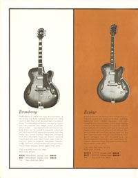 1962 Epiphone full line catalogue page 4