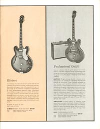 1962 Epiphone full line catalogue page 5