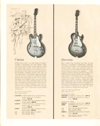 1962 Epiphone full line catalogue page 6