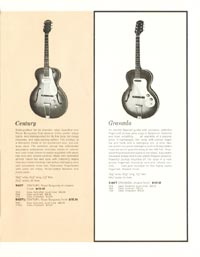 1962 Epiphone full line catalogue page 7