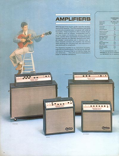 1964 Epiphone full line catalogue page 10