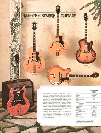 1964 Epiphone full line catalogue page 2
