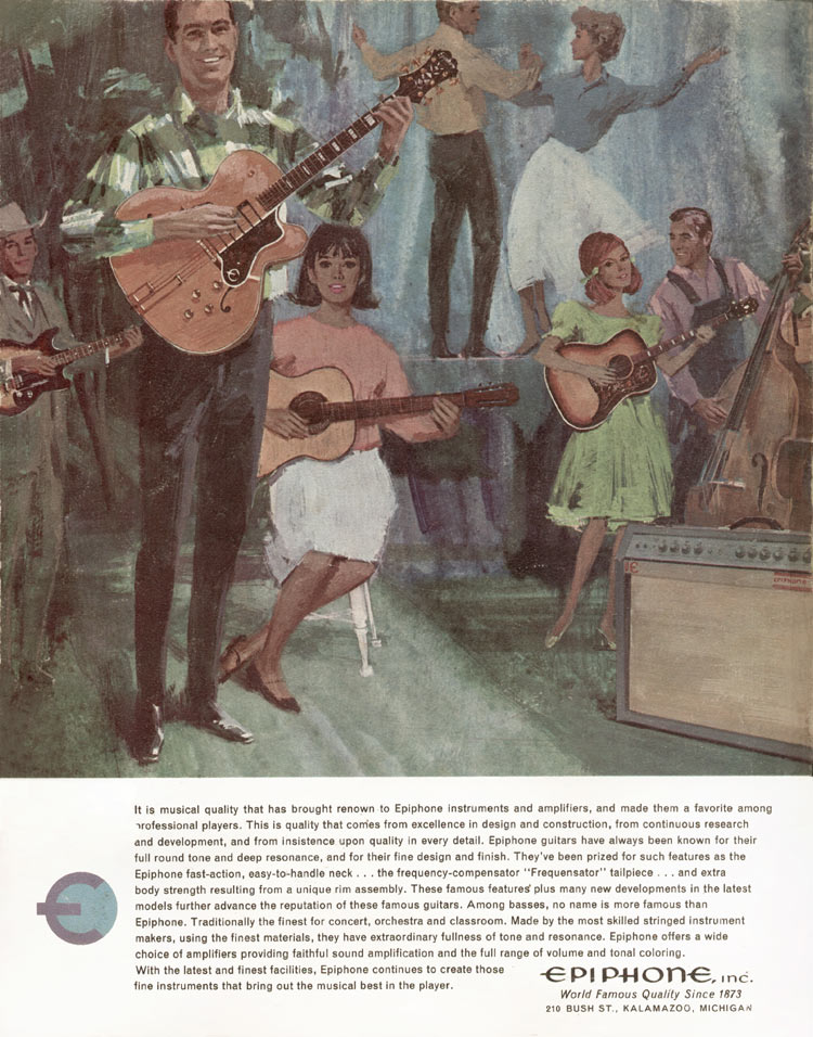 1966 Epiphone full line catalogue back cover