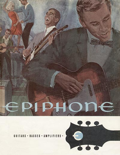 1966 Epiphone electric guitar and amplifier catalogue