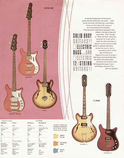 1966 Epiphone full line catalogue page 5