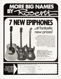 Epiphone Electric Guitars - 1970
