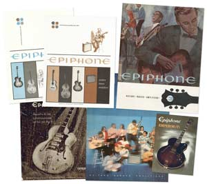 Epiphone guitar catalogues