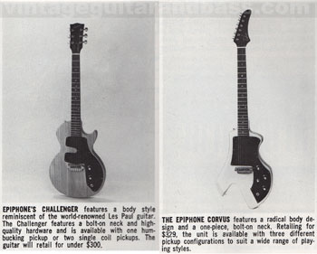 1983 Epiphone USA Challeger and Corvus