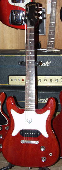 Early 1960s Epiphone Coronet with symmetrical body and headstock