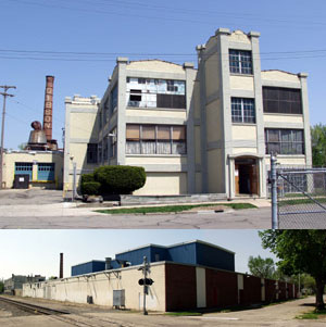 The Epiphone plant at 210 Bush Street, Kalamazoo, Michigan