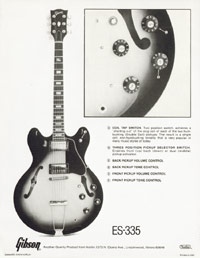 Gibson ES-335 1978 description of controls