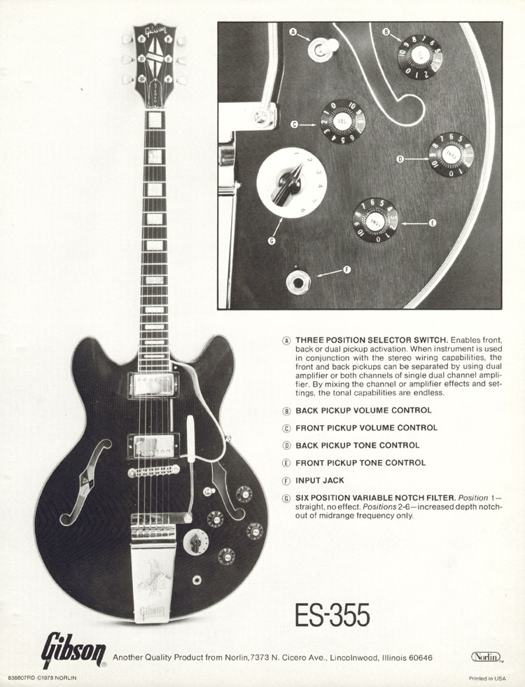 1978 spec sheet for the ES-355TD-SV