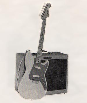 The Fender Duo-Sonic in the 1958 Fender catalog