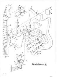 Fender Duo-Sonic 1968 parts list page 4