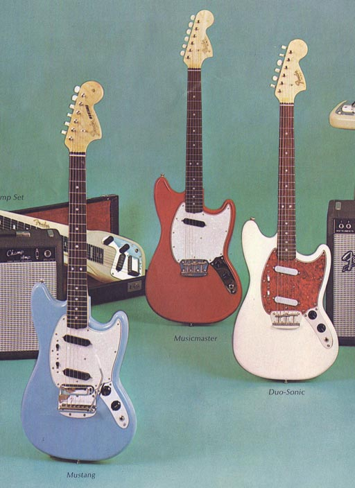 1966 Fender catalogue - Fender Mustang, Musicmaster, Duo-Sonic