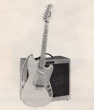 The Fender Musicmaster in the 1958 Fender catalog