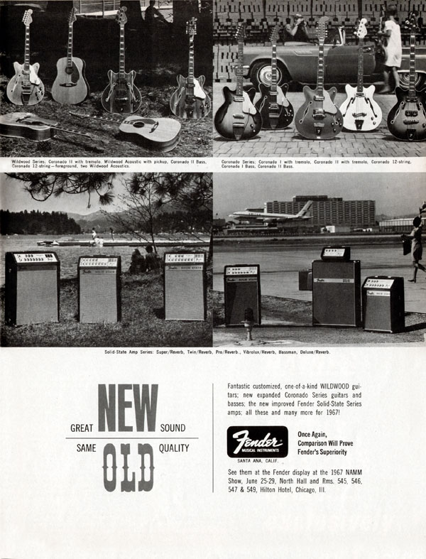 Fender advertisement (1967) Great New Sound. Same Old Quality