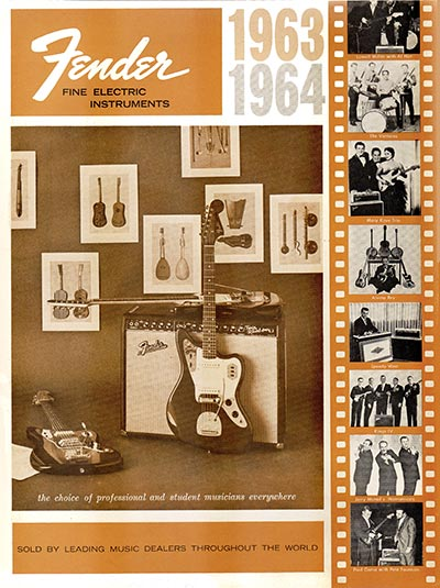 1963 1964 Fender guitar catalog cover