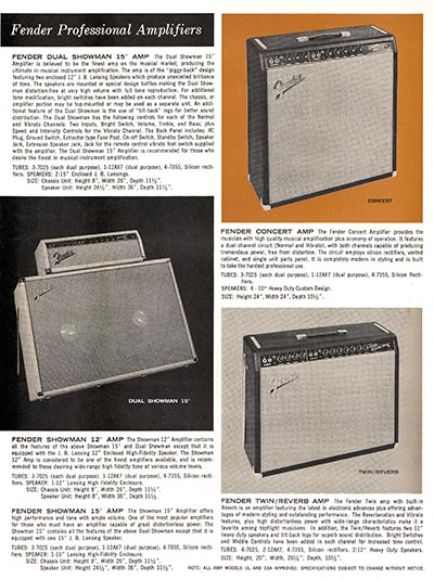 1963 1964 Fender guitar catalog page 4