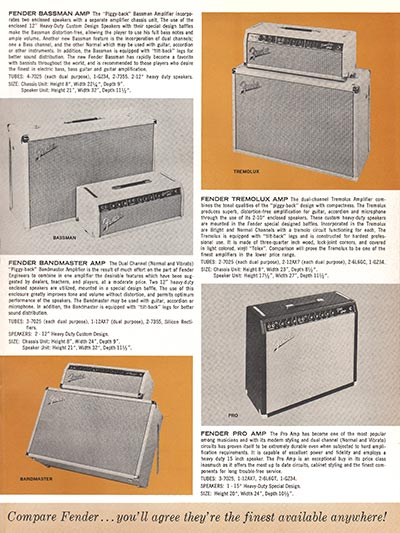 1963 1964 Fender guitar catalog page 5